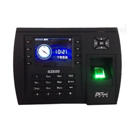 中控智慧SZ500彩屏指纹考勤打卡机TCP网络U盘下载生产