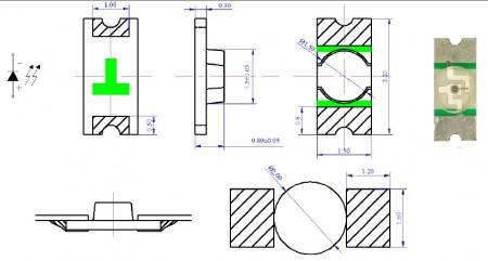 贴片LED1206-0.8厚反包装