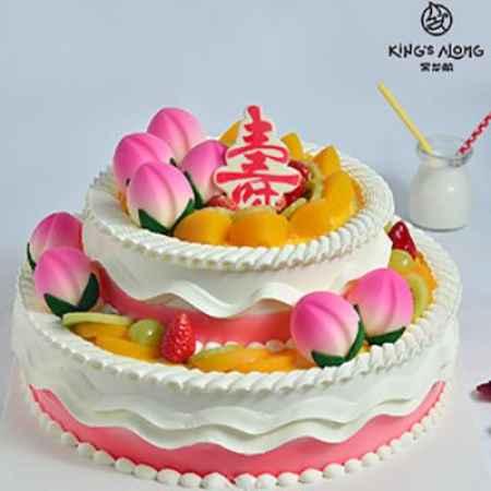 双层寿桃蛋糕