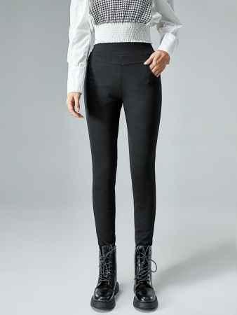 高腰显瘦打底羽绒裤